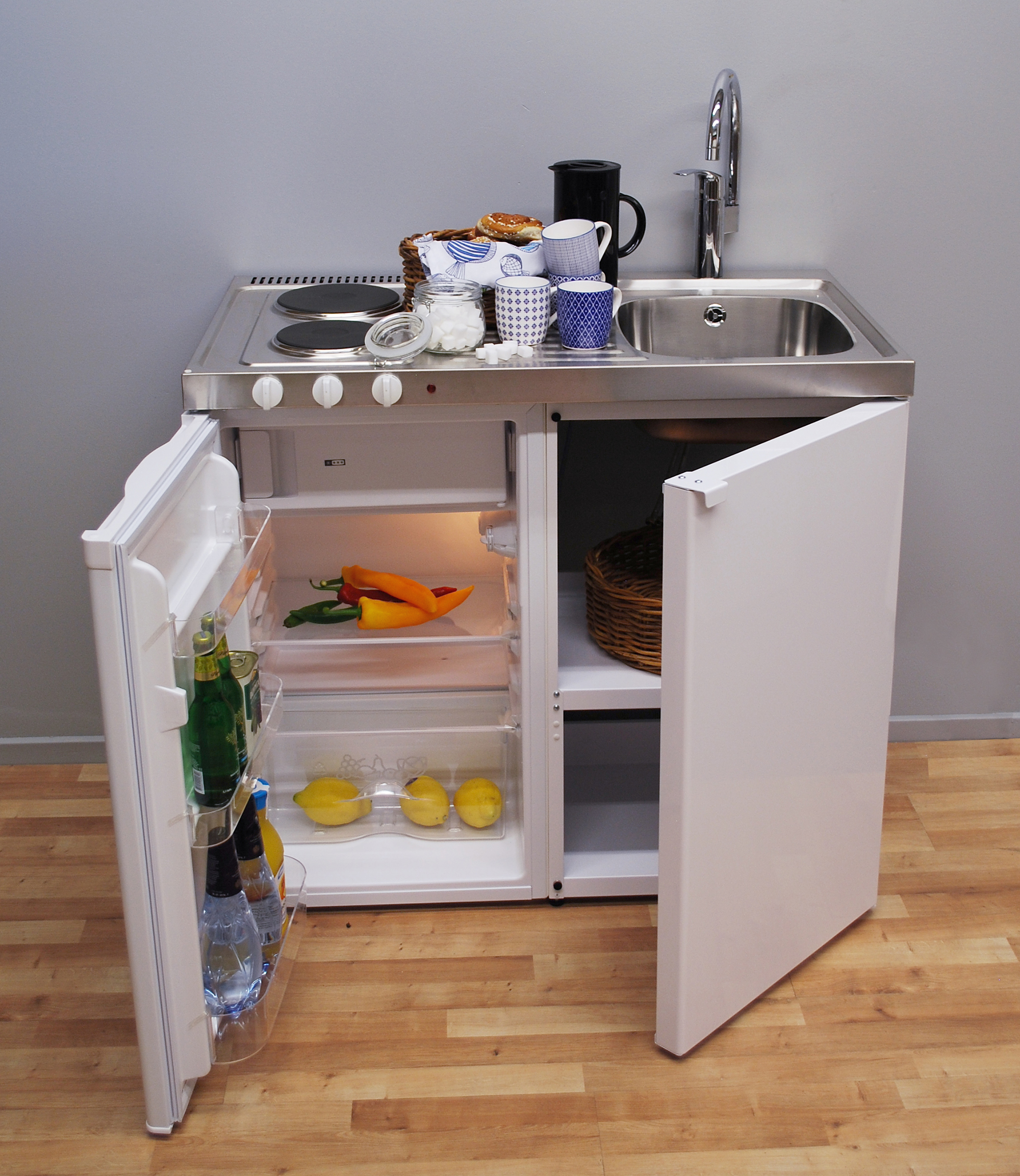 John strand mini kitchen our standard mini kitchen for Compact kitchens for small spaces