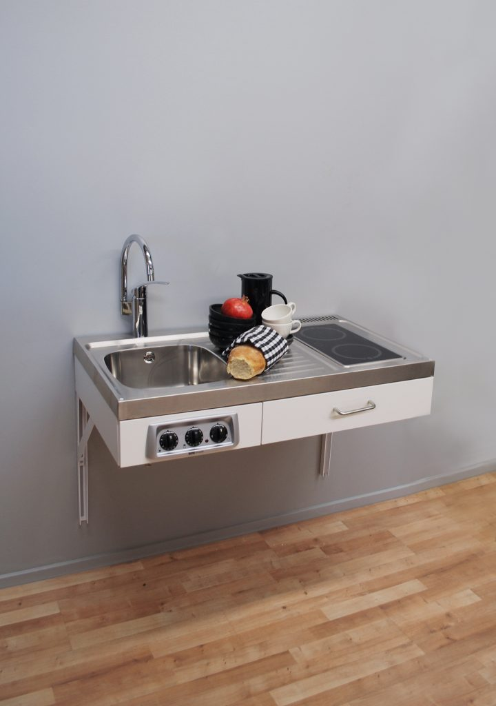 Disabled access kitchen 1 metre wide with ceramic hob (Model ref: ETN1081