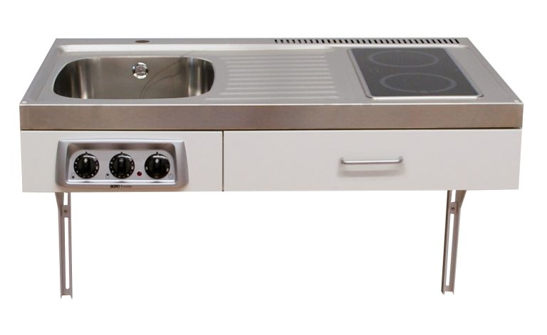 Disabled access kitchen 1 metre wide with ceramic hob (Model ref: ETN1084)