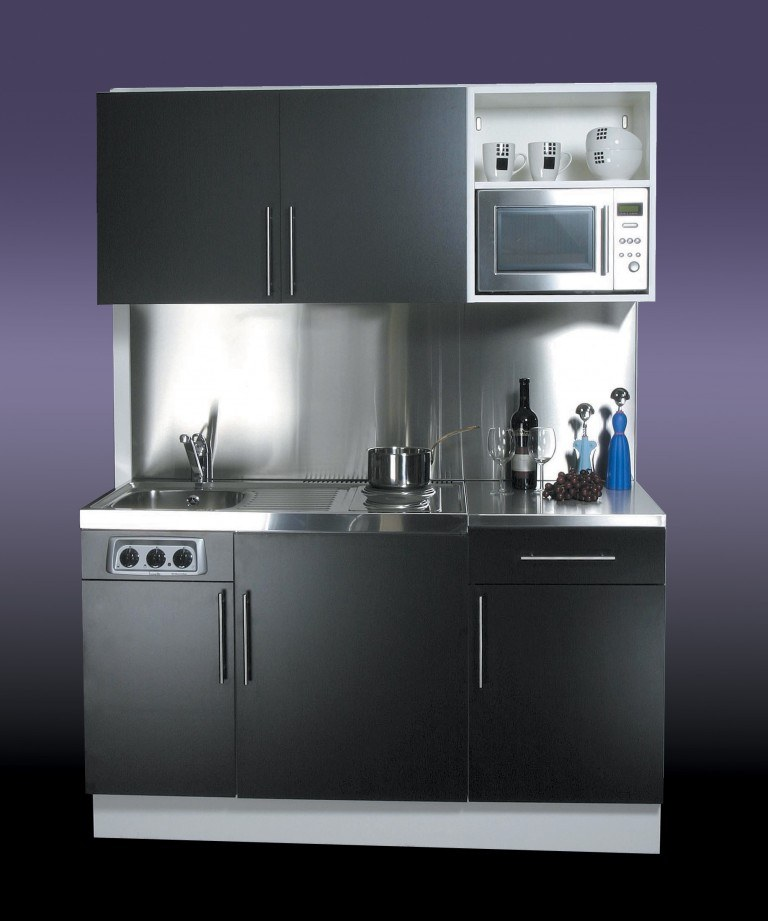Black Designer Range Kitchenette (Model ref: DGM054)