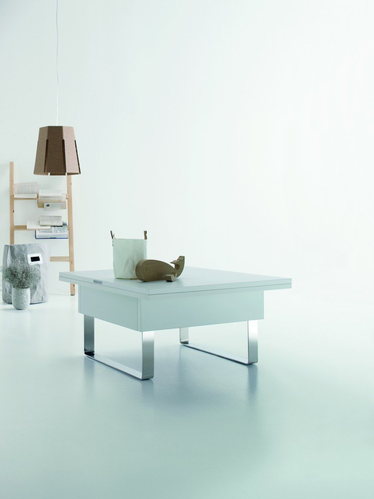 Piccolo Folding table converts from coffee table into dining table