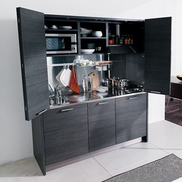 Compact Kitchen: ITH460 Italian Hideaway Kitchen Large