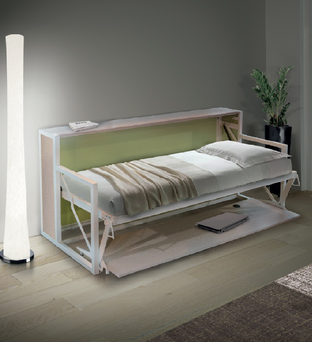 B-ESK Horizontal Free standing wall bed with desk