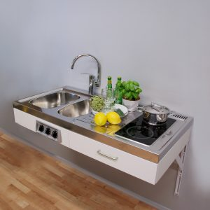 Disabled Access kitchen 1.2 metre wide with ceramic hob (model ref: ETN1281)