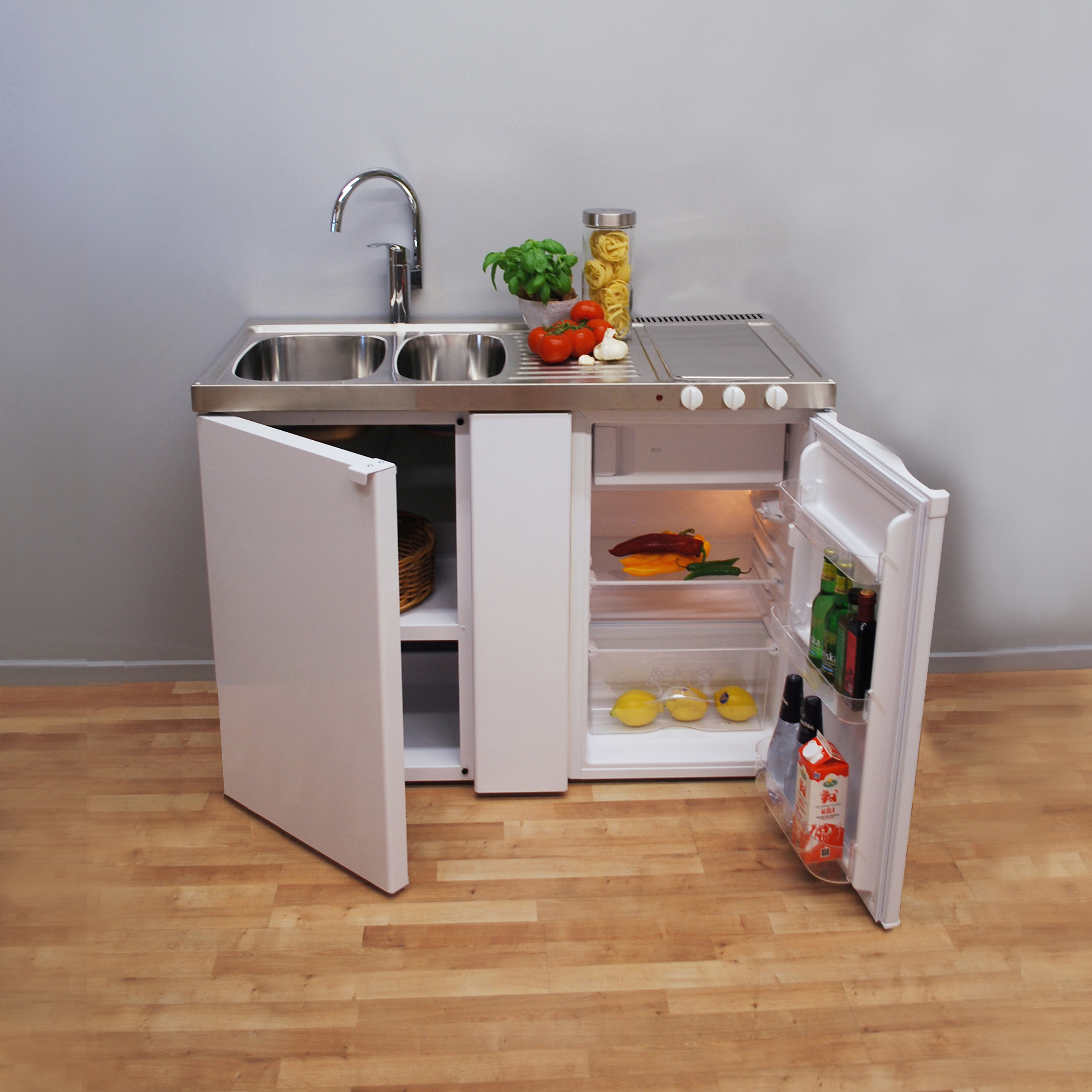 SALE OFFER! EMK 1260 1.2 metre wide MK Mini Kitchen (no hob) - compact and  ready-to-use
